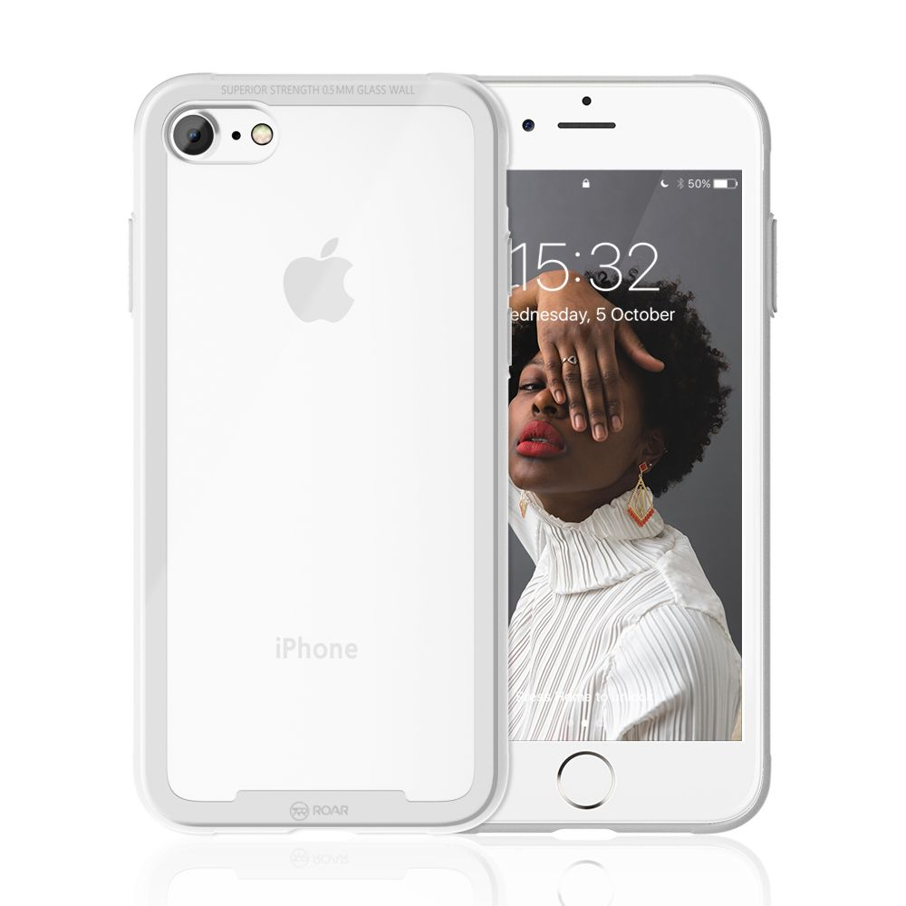 Roar Glass Airframe iPhone 7 / 8 / SE 2020 white