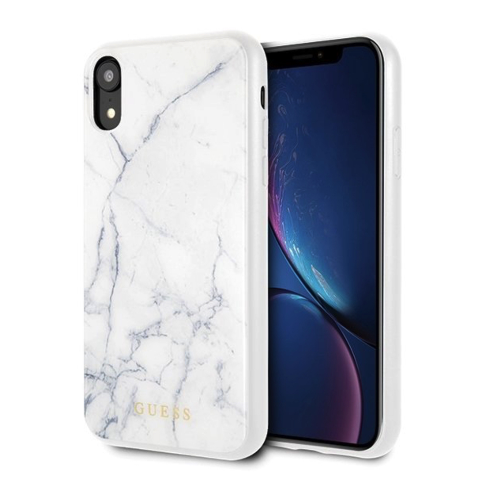 GUESS iPhone XR GUHCI61HYMAWH Marble white