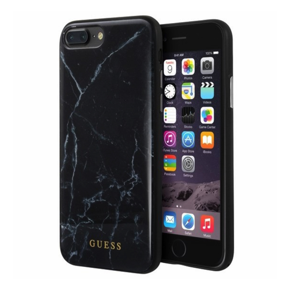 GUESS iPhone 7 Plus / 8 Plus Marble black