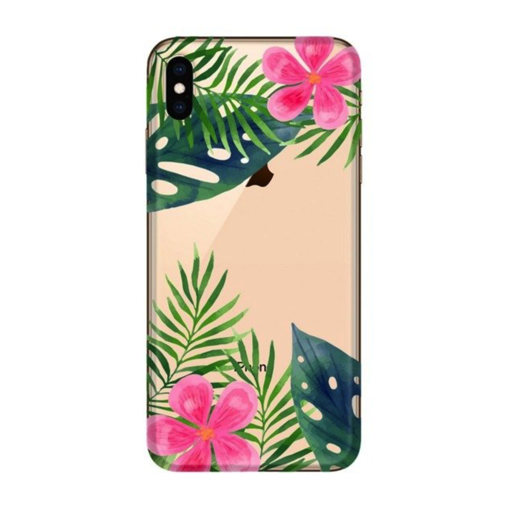 FUNNY CASE iPhone XS Max leaves and flowers