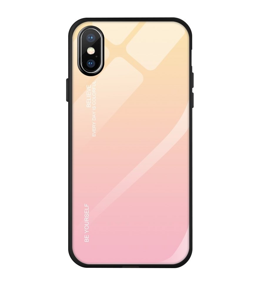 Gradient Glass Durable iPhone X / XS pink