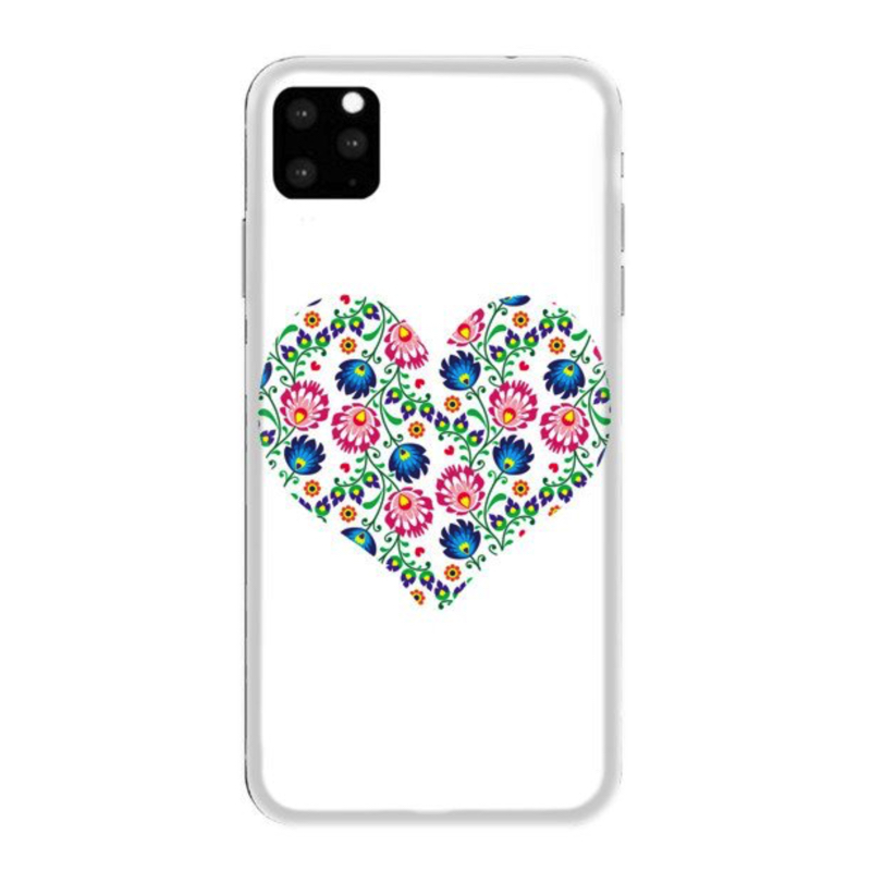 FUNNY CASE iPhone 11 white heart