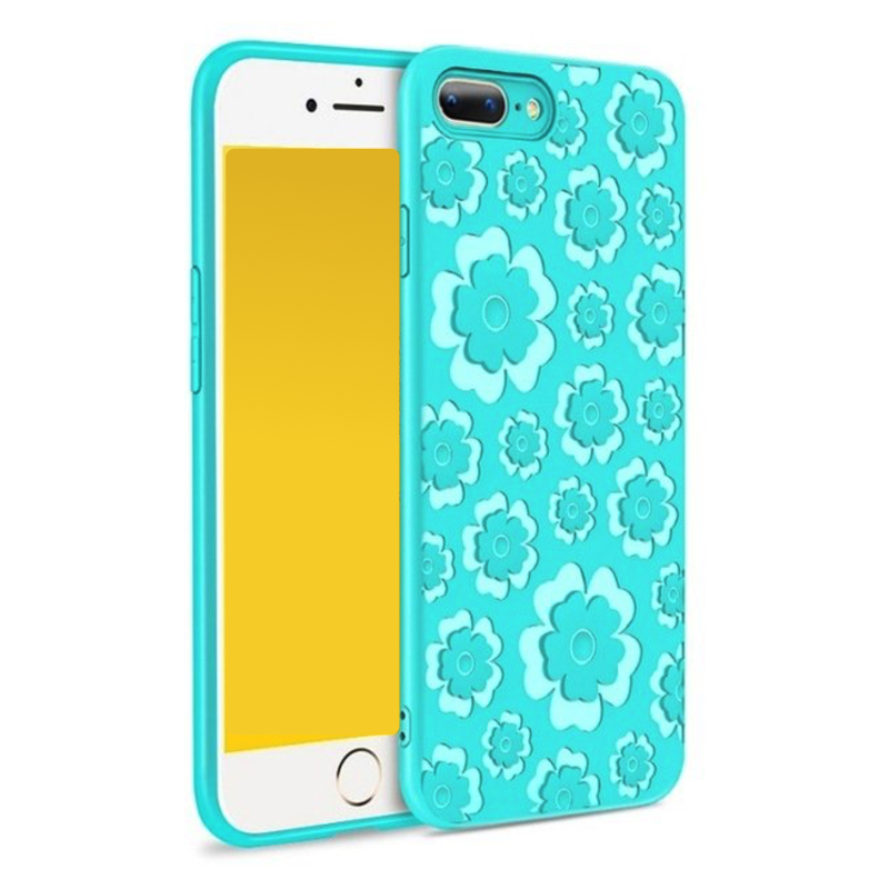 MSVII Flower Flexible iPhone 7 Plus / 8 Plus blue