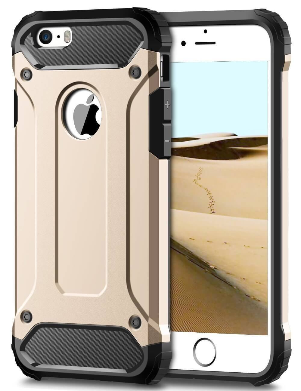 Forcell ARMOR iPhone  5 / 5S / SE gold