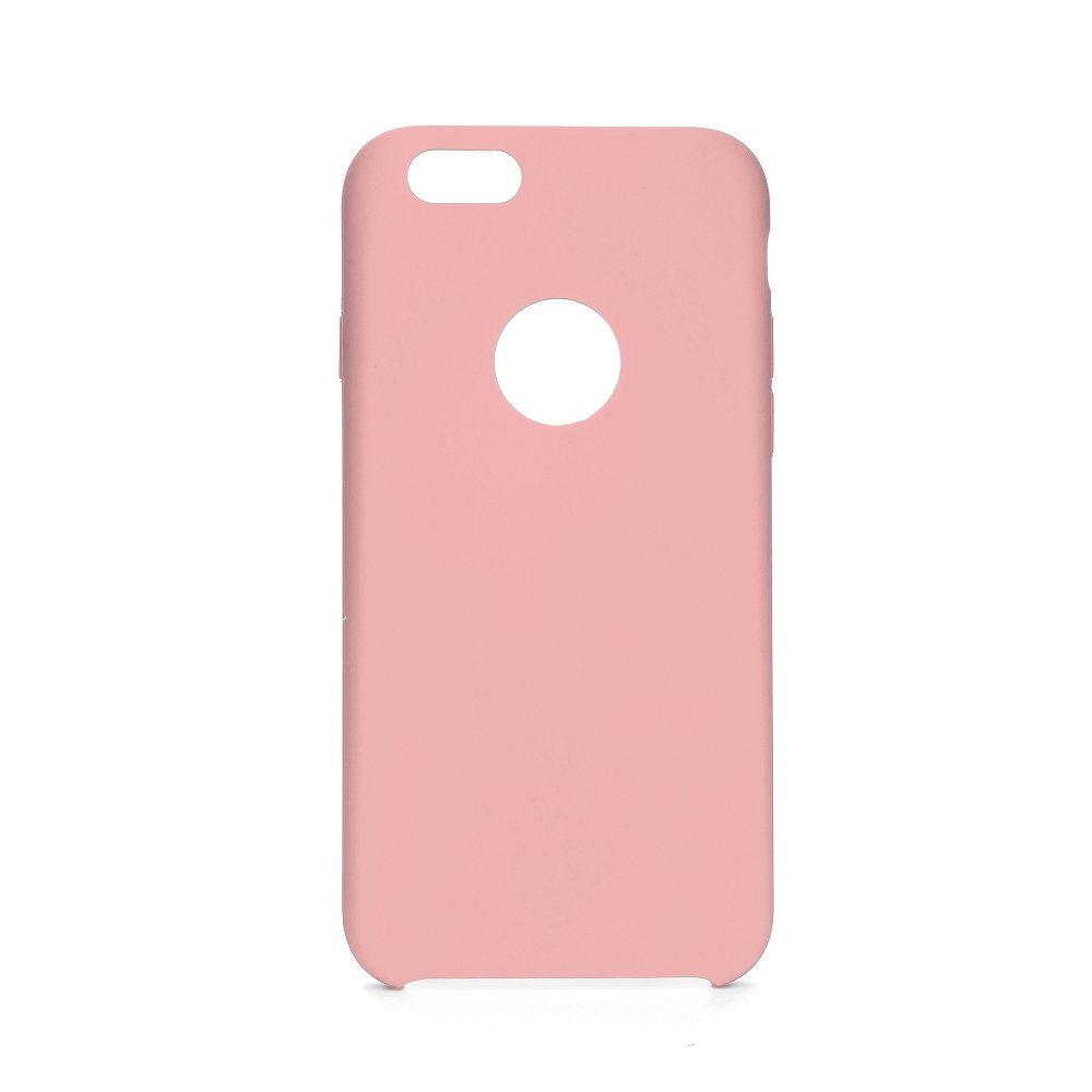 Forcell Silicone iPhone 6 / 6S pink (s otvorom pre logo)