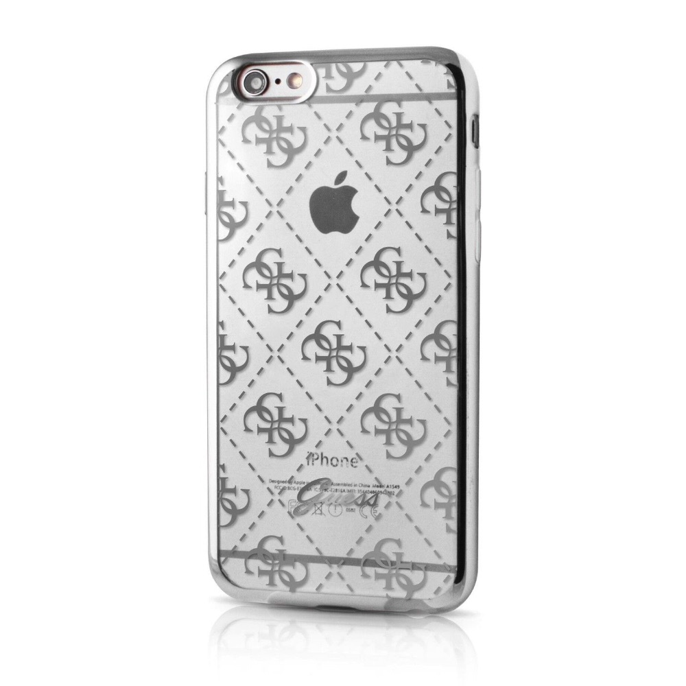 GUESS iPhone 6 / 6S GUHCP6TR4GSI silver - transparent