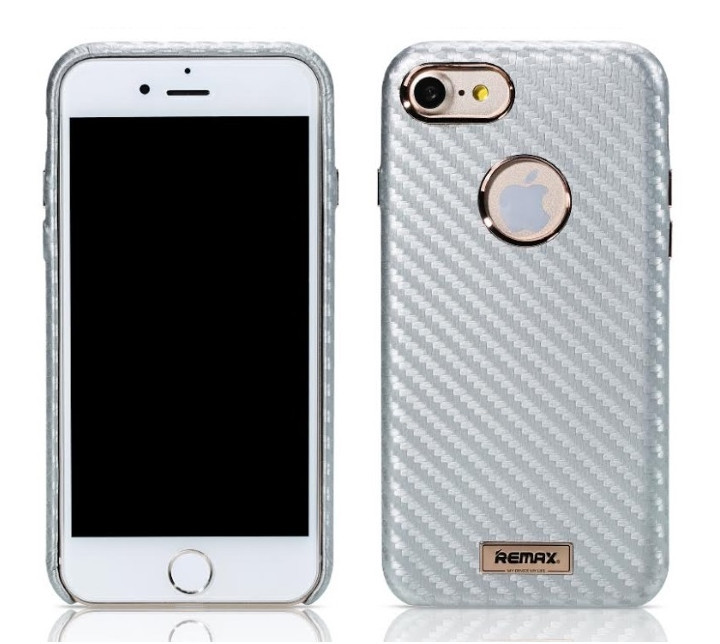 REMAX Carbon series iPhone 6 / 6S / 7 / 8 silver
