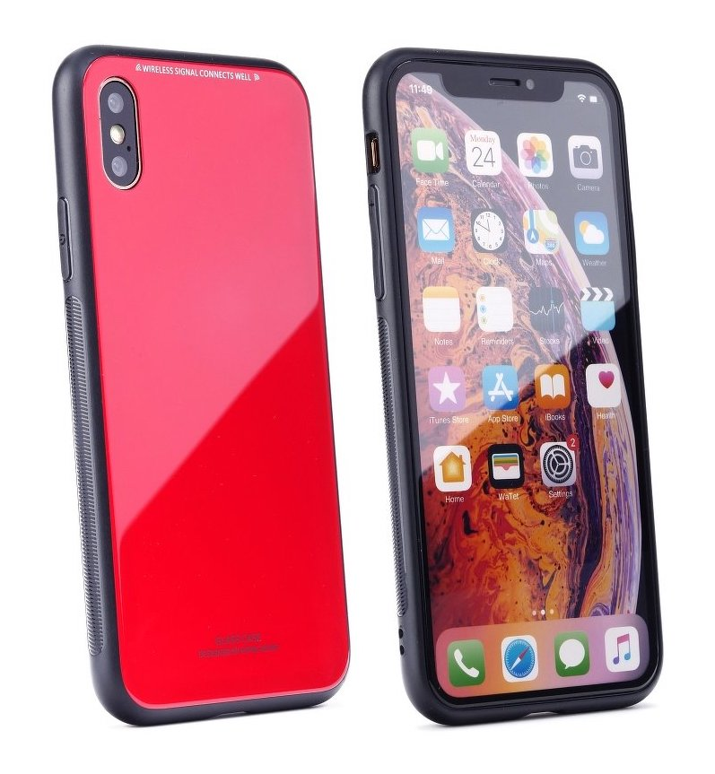 Forcell GLASS iPhone XS MAX red