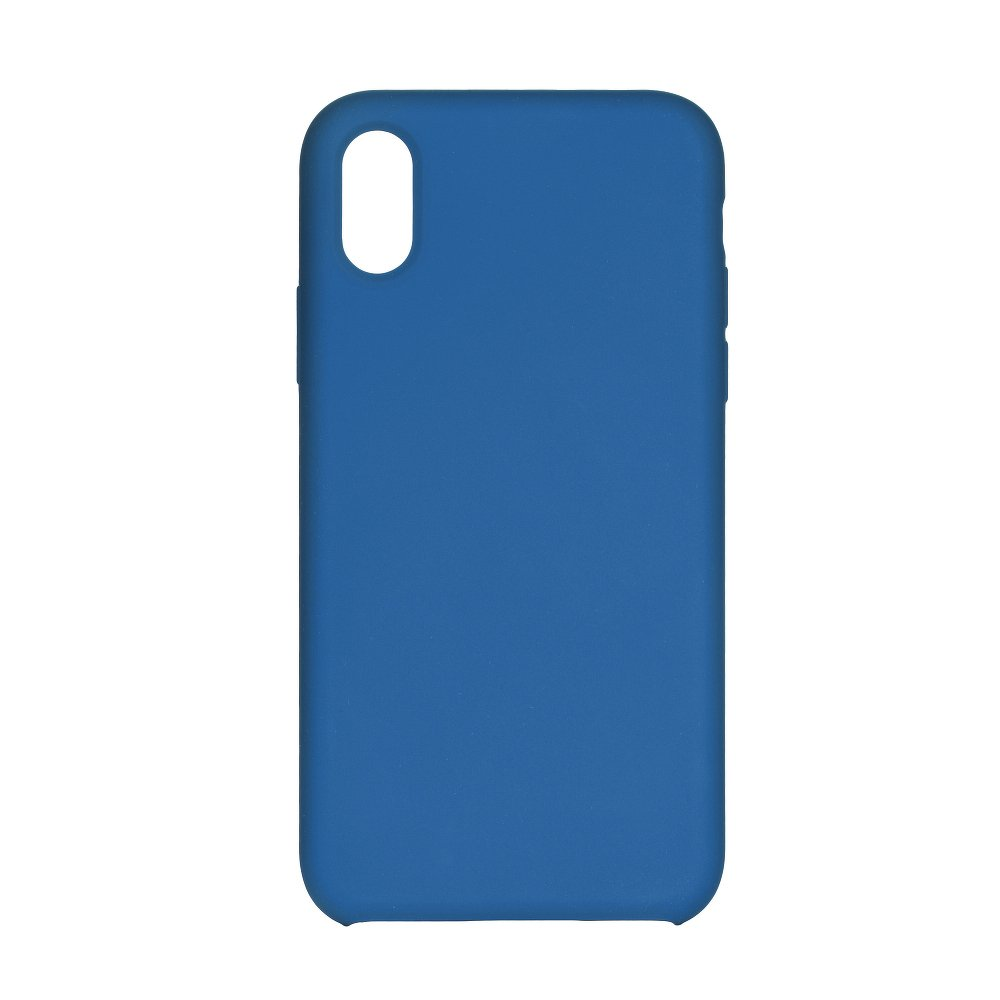 Forcell Silicone iPhone 7 / 8 dark blue (s otvorom pre logo)