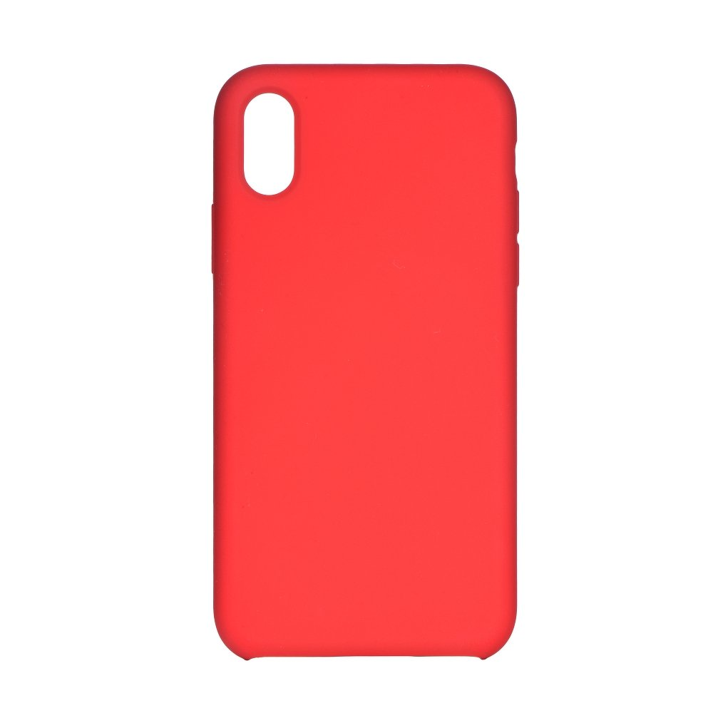 Forcell Silicone iPhone X / XS red (s otvorom pre logo)