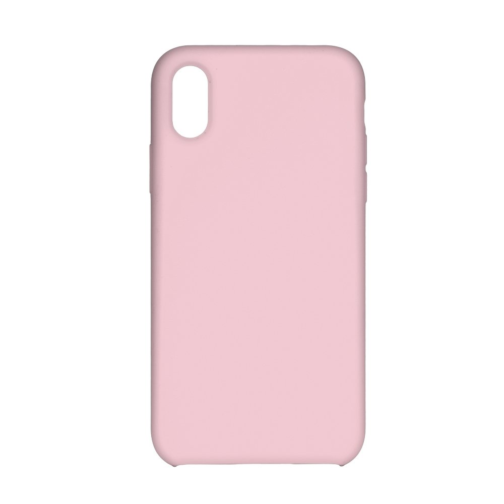 Forcell Silicone iPhone 7 Plus / 8 Plus pink (s otvorom pre logo)