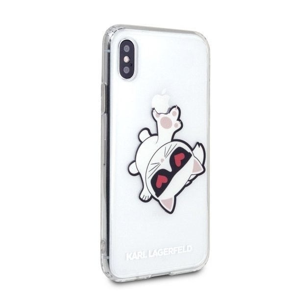 Karl Lagerfeld iPhone XS Max KLHCI65CFHE transparent Choupette Fun