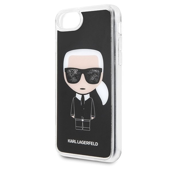 Karl Lagerfeld iPhone 6 / 6S / 7 / 8 KLHCI8ICGBK black Iconic Glitter