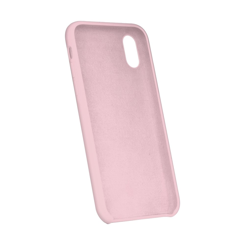 Forcell Silicone iPhone 5 / 5S / SE pink (s otvorom pre logo)