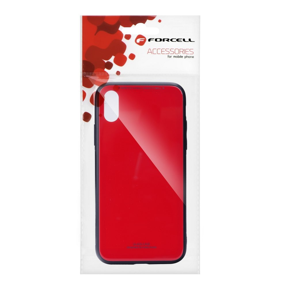 Forcell GLASS iPhone 5 / 5S / SE red