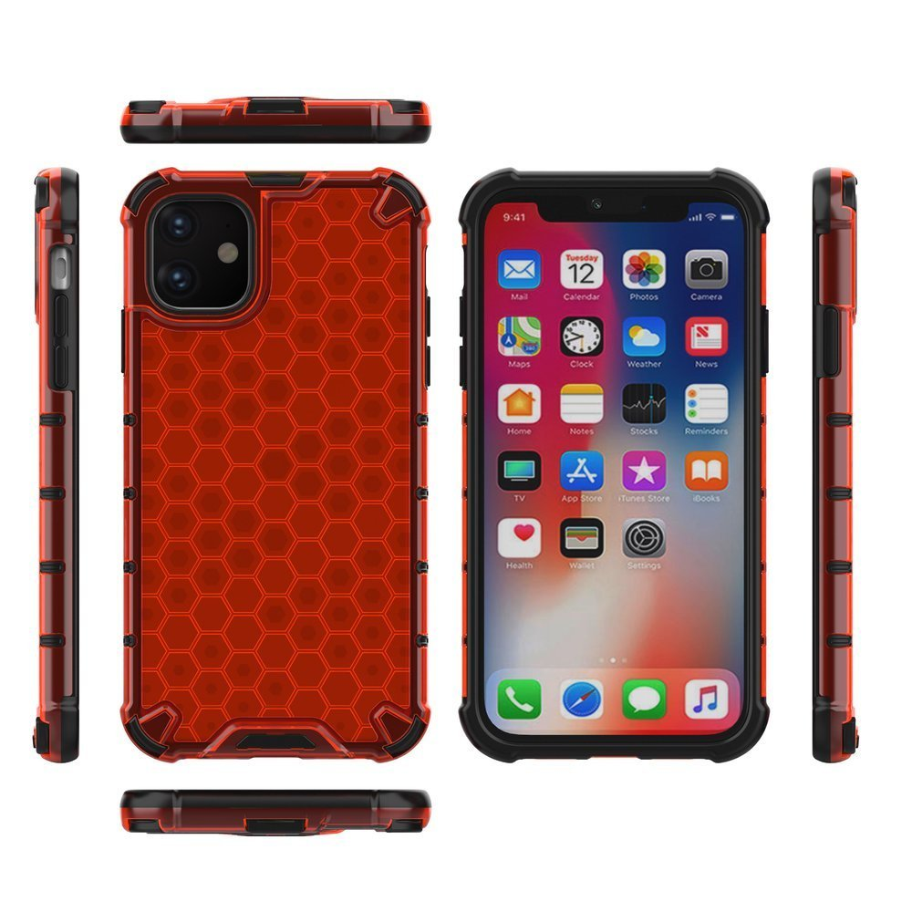 Honeycomb armor iPhone 11 red