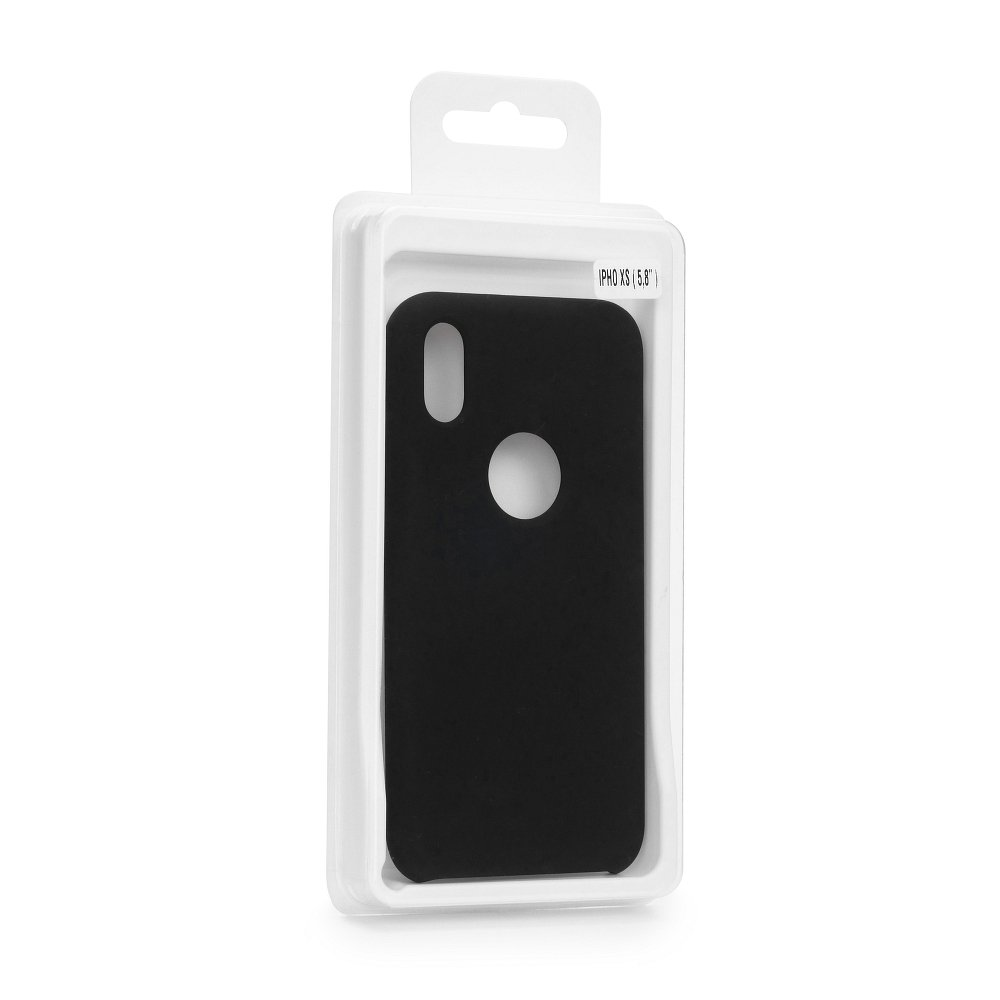 Forcell Silicone iPhone 5 / 5S / SE black (s otvorom pre logo)