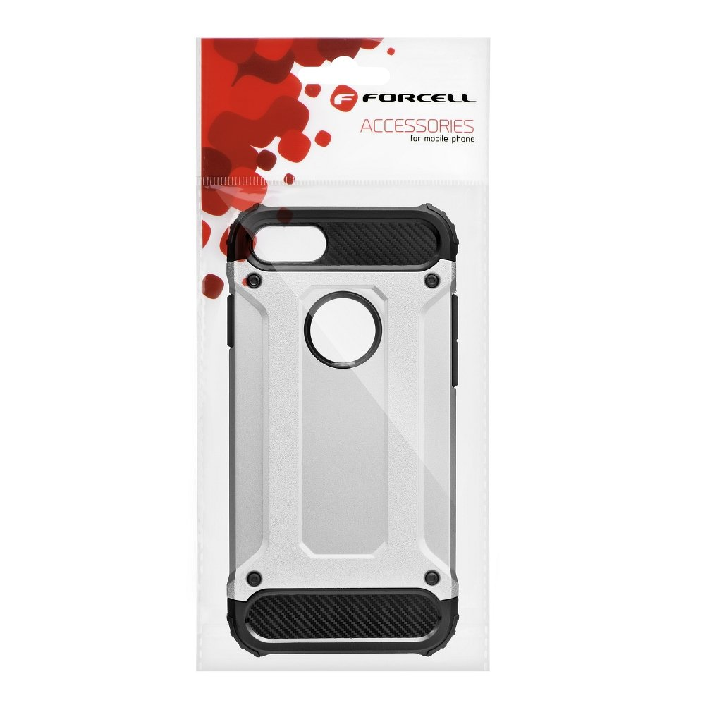 Forcell ARMOR iPhone X / XS silver