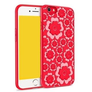 MSVII Flower Flexible iPhone 7 Plus / 8 Plus red
