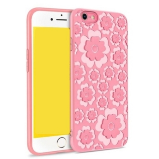 MSVII Flower Flexible iPhone 7 Plus / 8 Plus pink
