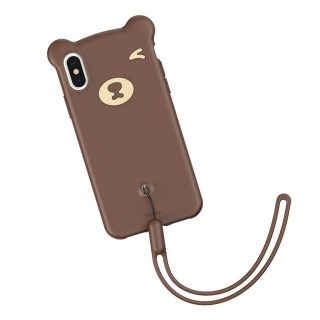 Baseus Bear iPhone X / XS brown