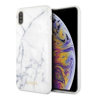 GUESS iPhone X / XS GUHCPXHYMAWH Marble white