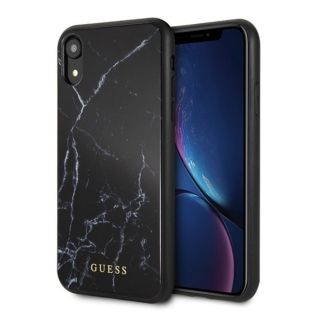 GUESS iPhone XR GUHCI61HYMABK Marble black