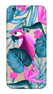 FUNNY CASE iPhone 6 / 6S parrot and flowers