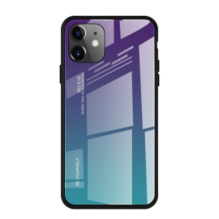 Gradient Glass Durable iPhone 11 green-purple
