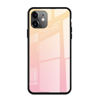 Gradient Glass Durable iPhone 11 pink