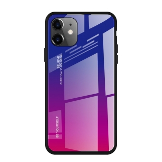 Gradient Glass Durable iPhone 11 pink-purple