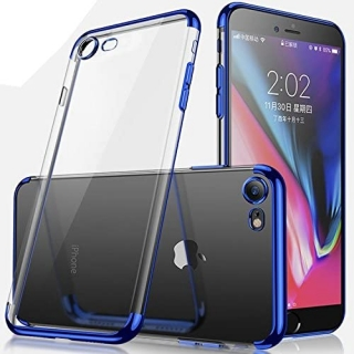 Kryt Electroplating frame iPhone 7 / 8 / SE 2020 blue