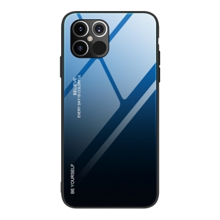 Gradient Glass Durable iPhone 12 Pro Max - black-blue