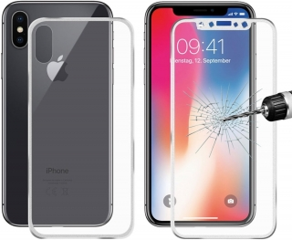 Ochranné sklo Full Blue Star iPhone X / XS 5D front and back white