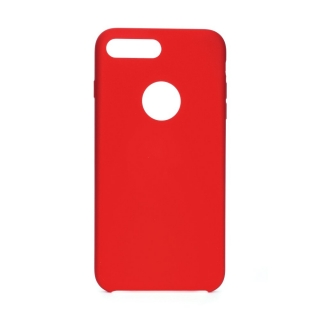 Forcell Silicone iPhone 7 Plus / 8 Plus red (s otvorom pre logo)