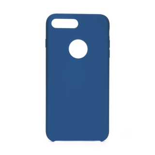 Forcell Silicone iPhone 7 Plus / 8 Plus dark blue (s otvorom pre logo)