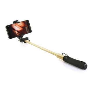 Selfie tyč Remax P5 jack 3,5mm gold