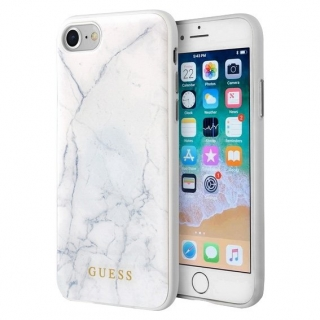 Guess iPhone 7 / 8 / SE 2020 Marble  white