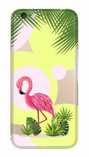 FUNNY CASE iPhone 6 / 6S flamingo and flowers