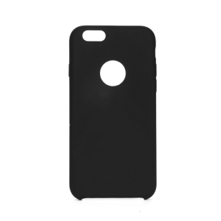 Forcell Silicone iPhone 6 / 6S black (s otvorom pre logo)