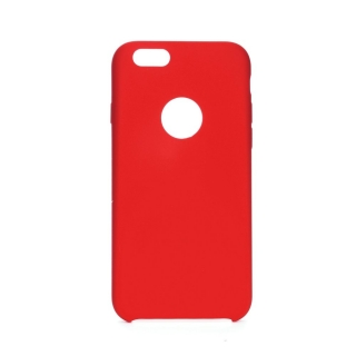 Forcell Silicone iPhone 6 / 6S red (s otvorom pre logo)