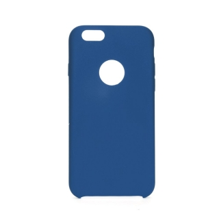 Forcell Silicone iPhone 6 / 6S dark blue (s otvorom pre logo)