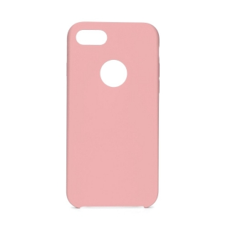Forcell Silicone iPhone 7 / 8 pink (s otvorom pre logo)