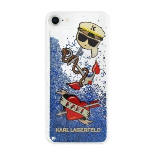 KARL LAGERFELD iPhone 6 / 6S / 7 / 8 / SE 2020 KLHCI8KSG Liquid blue