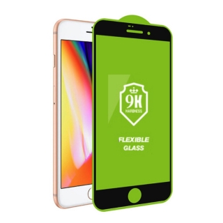 Ochranné sklo 5D Nano flexible iPhone 7 / 8 / SE 2020 black