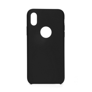 Forcell Silicone iPhone X / XS black (s otvorom pre logo)