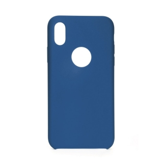 Forcell Silicone iPhone X / XS dark blue (s otvorom pre logo)