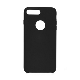 Forcell Silicone iPhone 7 Plus / 8 Plus black (s otvorom pre logo)